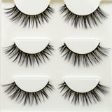 3 pairs /set 3D False Eyelashes Messy Cross Thick Natural Fake Eye Lashes - BETTIKE.com