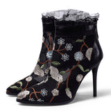 Autumn Winter Lace Hollow Ankle Boots - BETTIKE.com
