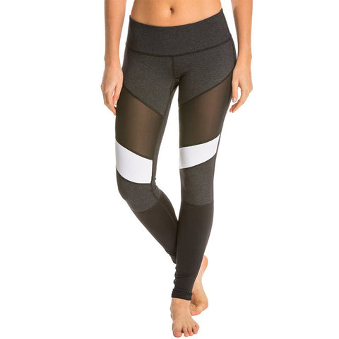 Sporting Fitness Mesh  Female Patchwork Workout Leggings Push Up Elastic