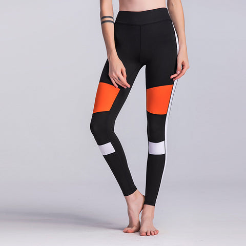 Hot Striped Printing Black Leggings High Waist Workout Pants Sporting Leggings - BETTIKE.com