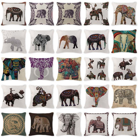 Lovely Cushion Cover Ethnic Elephant Cushion Covers - BETTIKE.com
