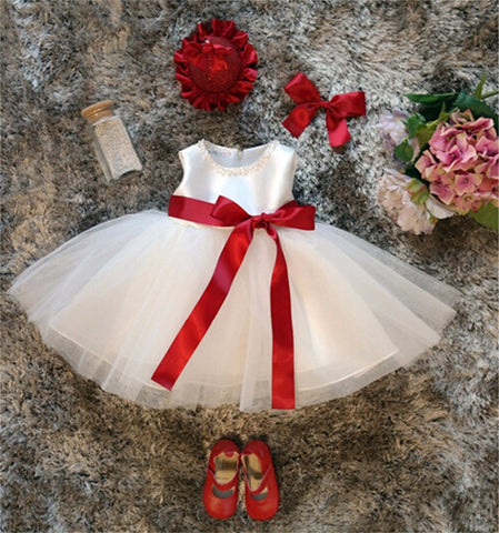 New Born Baby Girl Summer Tutu Dress Christening Gown Princess Dress For Girl Kids Infant Party Birthday Dress
