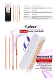 Acne Removal Needle Pimple Needle Blackhead Remover Acne Treatment 4 pieces Rose Gold - BETTIKE.com