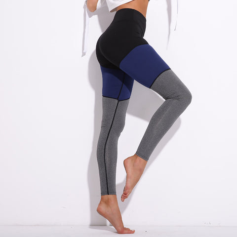 Blue Grey Black Colors of fitness Leggings - BETTIKE.com