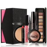 8Pcs Cosmetics Makeup Set Powder Eye Makeup Eyebrow Pencil Volume Mascara Sexy Lipstick Blusher Tool Kit for Daily Use - BETTIKE.com