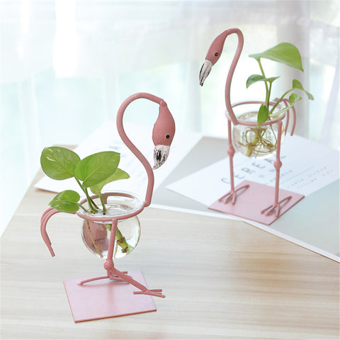 European Flamingo Small Flower Pot Water Culture Container