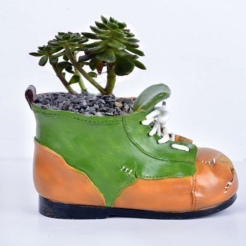Creative Shoes Flowers Plants Container - BETTIKE.com