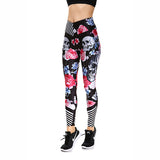 3D Demon Horror Skull Digital Printed Leggings - BETTIKE.com