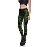 3D Print Spor Leggings Fitness Dark Skeleton Totem Sexy Stretch - BETTIKE.com