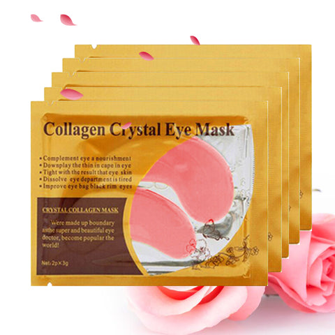 Eye Mask Crystal Collagen Eyes Mask Patches for Eye Care Mask Anti-puffiness Eyelid Patch Anti-Wrinkle Gel Eye Pads