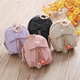 Bow Zipper Key Bag Short Women Wallet Small Coin Purse - BETTIKE.com