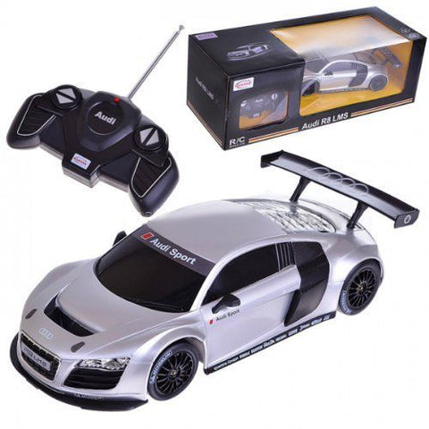 Rastar 1:18 Scale Audi R8 Model RC Car RTR (COLOR: SILVER)