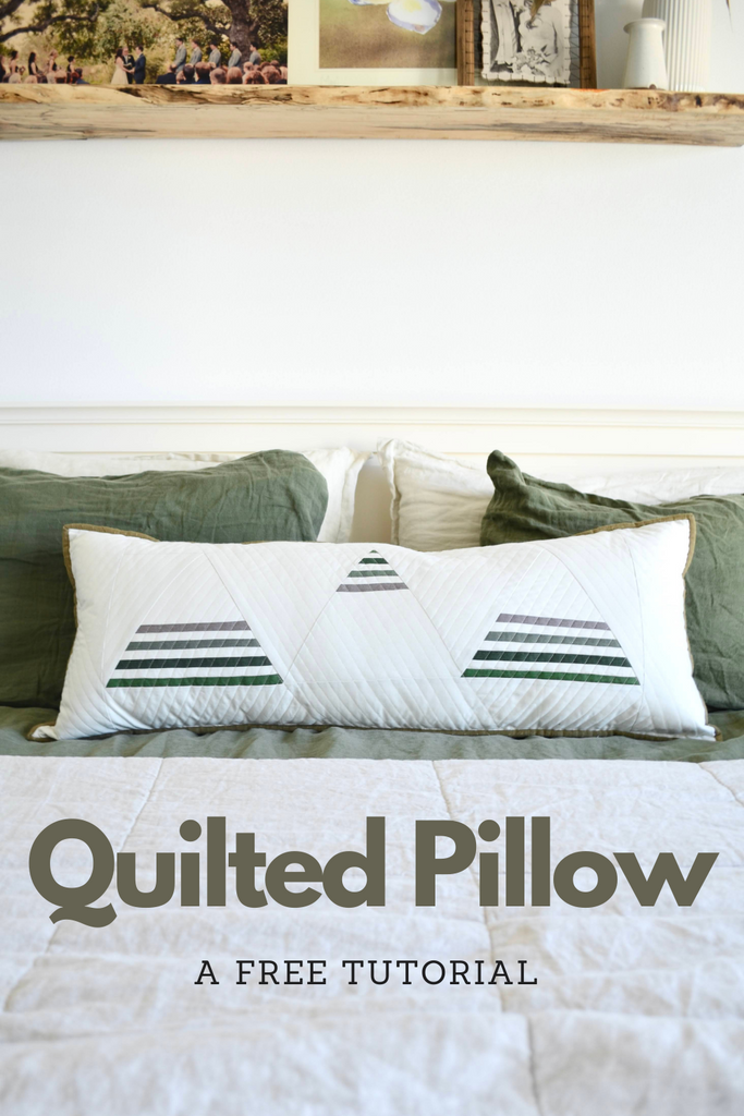 Free Living Room Quilted Pillow Tutorial
