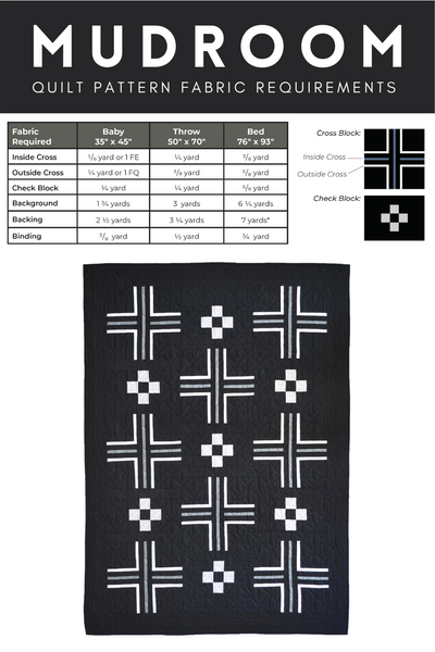 Mudroom Quilt Pattern