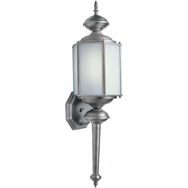 Forte Lighting Signature 1 Light 7 inch Olde Nickel Outdoor Lantern