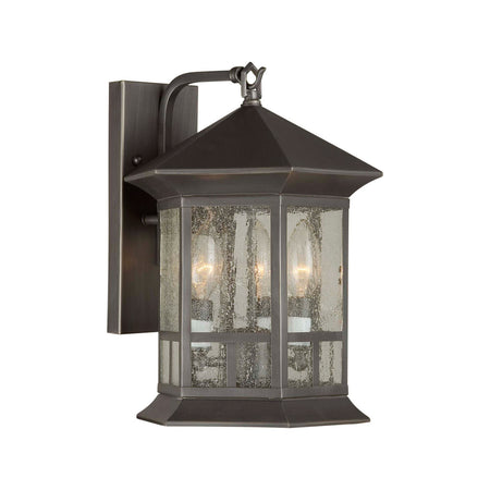 Forte Lighting Signature 1 Light 7 inch Royal Bronze Outdoor Lantern