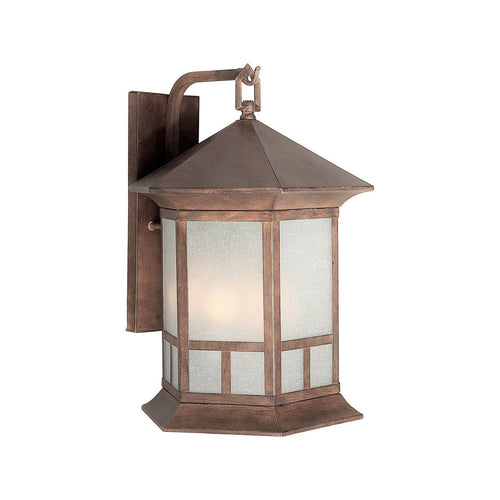 Forte Lighting Signature 4 Light 13 inch Rustic Sienna Outdoor Lantern