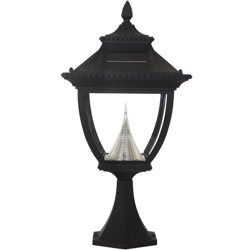 Gama Sonic Pagoda 23 inch Black Solar Light