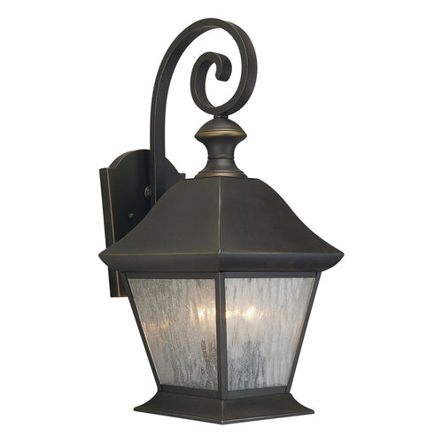 Forte Lighting Signature 3 Light 9 inch Royal Bronze Outdoor Lantern