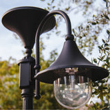 Gama Sonic Everest 20 inch Black Solar Lamp