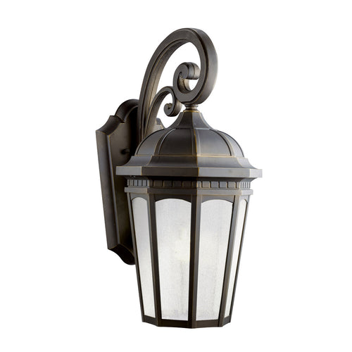Kichler Lighting 11012RZ Courtyard 1 Light 22 inch Rubbed Bronze Fluorescent Outdoor Wall Lantern