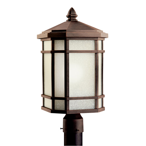 Kichler Lighting 11020PR Cameron 1 Light 20 inch Prairie Rock Fluorescent Outdoor Post