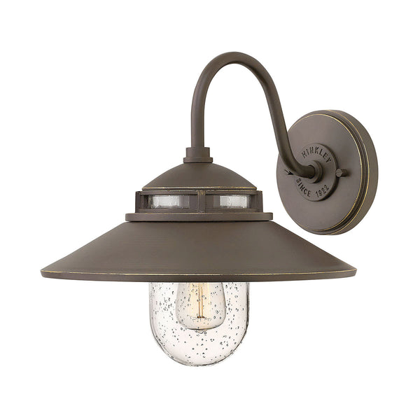 Hinkley Lighting 1110OZ Atwell 1 Light 12 inch Oil Rubbed Bronze Outdoor Wall Mount Open Air