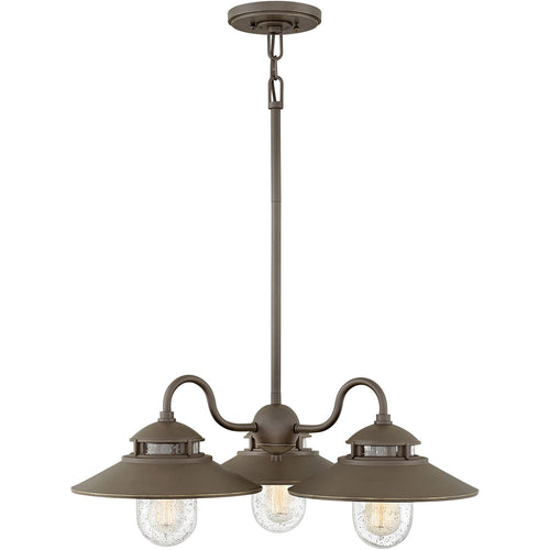 Hinkley Lighting 1113OZ Atwell 3 Light 24 inch Oil Rubbed Bronze Outdoor Chandelier Open Air