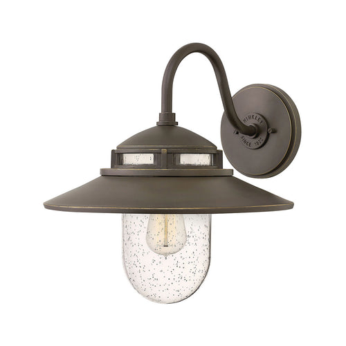 Hinkley Lighting Atwell 1 Light 15 inch Oil Rubbed Bronze Outdoor Wall Mount Open Air