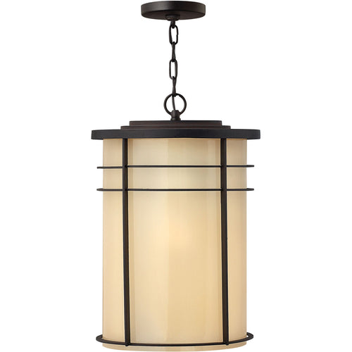 Hinkley Lighting Ledgewood 1 Light 13 inch Museum Bronze Outdoor Hanging Light in Incandescent
