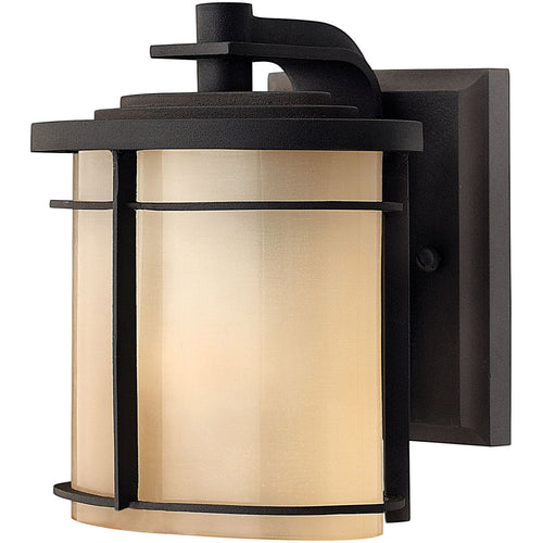 Hinkley Lighting Ledgewood 1 Light 7 inch Museum Bronze Outdoor Mini Wall Mount in Incandescent