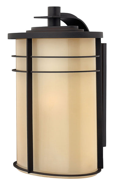 Hinkley Lighting 1129MR-GU24 Ledgewood 1 Light 20 inch Museum Bronze Outdoor Wall in Champagne Inside-Etched GU24