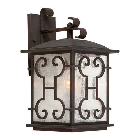 Livex Westover 4 Light 15 inch Bronze Outdoor Hanging Lantern