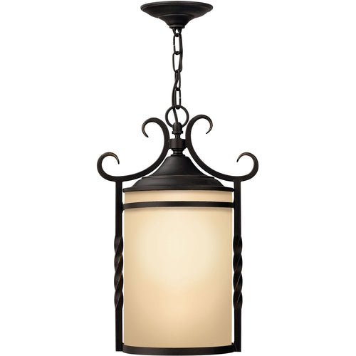 Hinkley Lighting Casa 1 Light 12 inch Olde Black Outdoor Hanging Light in Incandescent