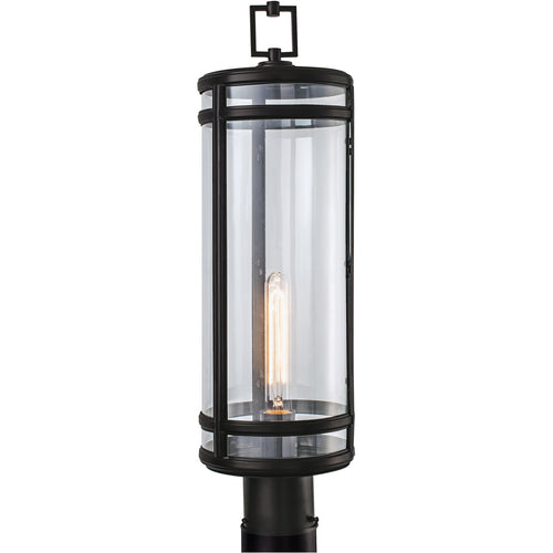 Norwell Lighting 1192-ADB-CL New Yorker 1 Light 24 inch Acid Dipped Black Outdoor Post Light
