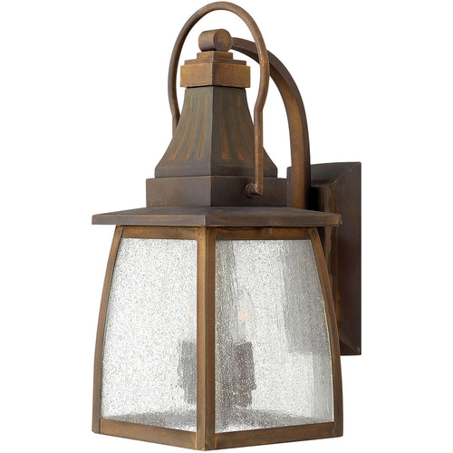 Hinkley Lighting 1200SN Montauk 2 Light 17 inch Sienna Outdoor Wall Mount in Incandescent Clear Seedy Glass