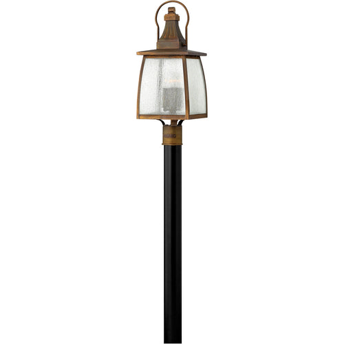 Hinkley Lighting 1201SN Montauk 4 Light 24 inch Sienna Outdoor Post Mount Clear Seedy Glass Post Sold Separately