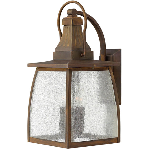 Hinkley Lighting 1205SN Montauk 4 Light 20 inch Sienna Outdoor Wall Mount in Incandescent Clear Seedy Glass