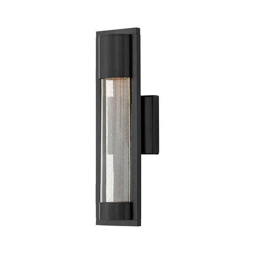 Hinkley Lighting Mist 1 Light 16 inch Satin Black Outdoor Wall Mount
