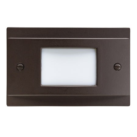 Hinkley Lighting Signature 12V 7 watt Matte White Landscape Deck in Incandescent Square Sconce