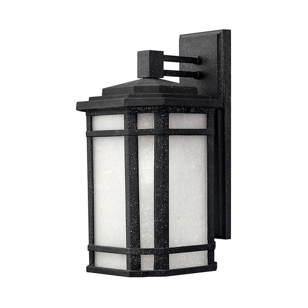 Hinkley Lighting Cherry Creek 1 Light 15 inch Vintage Black Outdoor Wall Mount in Incandescent
