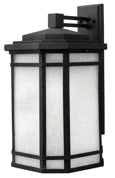 Hinkley Lighting 1275VK-GU24 Cherry Creek 1 Light 21 inch Vintage Black Outdoor Wall in White Linen GU24