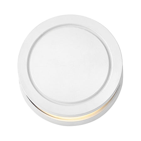 Hinkley Lighting Signature 12V 7 watt Matte White Landscape Deck in Incandescent Round