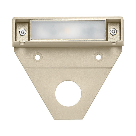 Hinkley Lighting Modern Deck Round 12V 2.3 watt Satin White Brick and Step Light