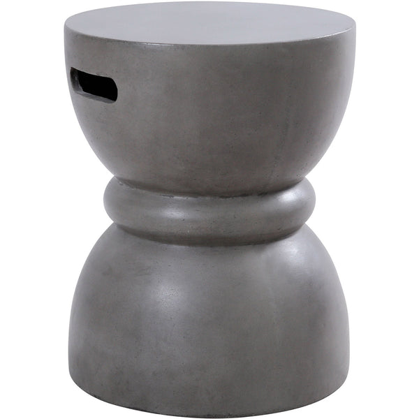 Decovio 10126-PC Barrington 18 inch Polished Concrete Outdoor Stool