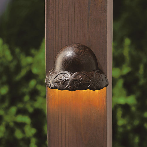 Kichler Lighting Signature 15V 2.5 watt Textured Tannery Bronze Deck Light in 3000K 1.75 inch