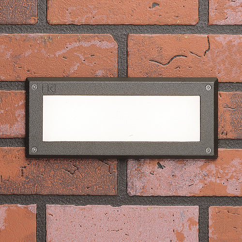 Kichler Lighting Signature 15V 2.5 watt Textured Architectural Bronze Step Light in 3000K 4.00 inch
