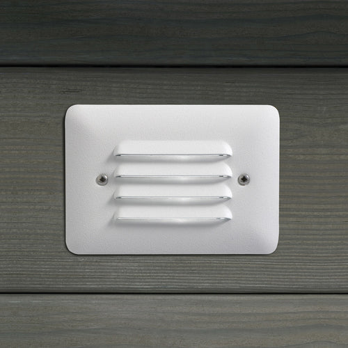 Kichler Lighting Deck LED 1W Step Light Landscape 15782WHT Landscape 12v LED Deck in Textured White