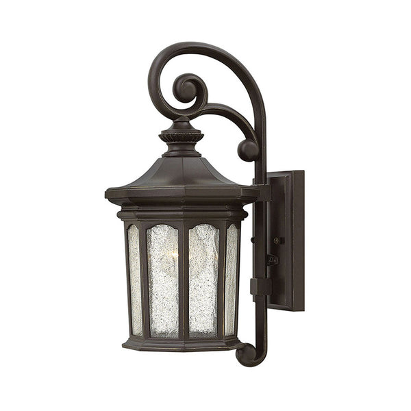 Hinkley Lighting Raley 1 Light 17 inch Oil Rubbed Bronze Outdoor Wall Mount Clear Water Glass Panels
