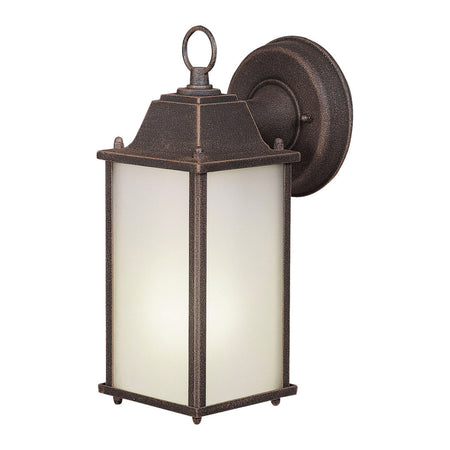 Forte Lighting Signature 1 Light 10 inch Painted Rust Outdoor Lantern